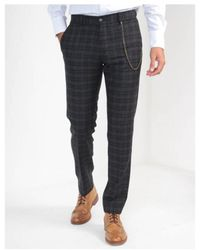 Gibson - Tartan Checked Trousers - Lyst