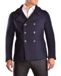 Armani - Men's Ucg81wucw04922 Blue Wool Coat - Lyst