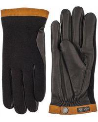 Hestra - Deerskin Wool Tricot Gloves Black / Black - Lyst