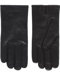 Armani - Armani Nappa Leather Gloves - Lyst