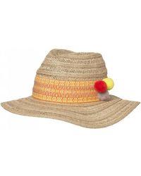Becksöndergaard - Coachella Fedora Hat Natural/ Orange - Lyst