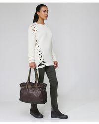 Campomaggi - Leather Studded Handle Shopper Bag - Lyst