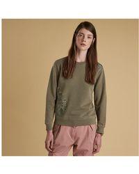 Barbour - Ladies Heritage Fern Crew Neck Sweater - Lyst