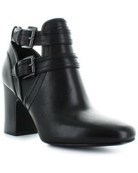 8d308e73fb20 Michael Kors Michael Margaret Block Heel Ankle Boots in Black - Lyst