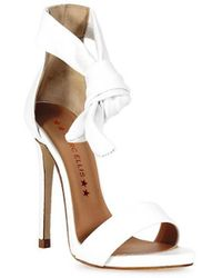 Marc Ellis - White Leather Heeled Sandal 36.5 - Lyst