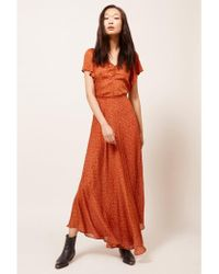 8445e23c7c Maria Bianca Nero Bohemian Crochet Maxi Dress in White - Lyst