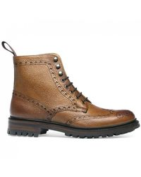 Cheaney Tweed C Wingcap Brogue Country Boot - Brown