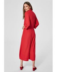 SELECTED - Tanna Jumpsuit Lipstick Red - Lyst
