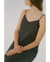 Nice Things - Double Stripe Black Dress - Lyst