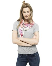 POM Amsterdam - Carriages Pink Printed Scarf - Lyst