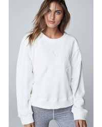Varley - Knoll Sweat White - Lyst