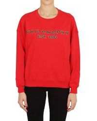 Philosophy - Sweatshirt In Red - Lyst