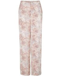 Second Female - Dreamy Trousers Off White - Lyst