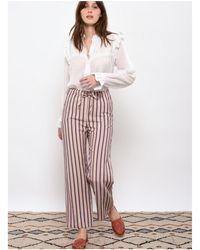 Leon & Harper Leon And Harper Penny Stripes Trousers