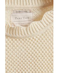 Part Two - Orika Organic Cotton Pullover In Eggnog - Lyst