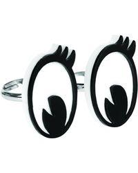 Tatty Devine - Cartoon Eyes Ring Set - Lyst