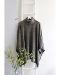 A Postcard From Brighton - Blankie Roll Neck Poncho Olive - Lyst