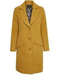 Soaked In Luxury - Denzil Wool Coat Yellow - Lyst