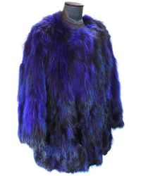 FRAME - Frame Bluette Fox And Marmot Fur Coat 42 - Lyst