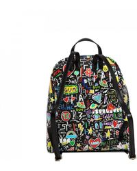 Gianni Chiarini - Printed Backpack In Black - Lyst