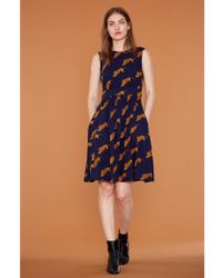 Atterley - Emily And Fin Lucy Tigers A Line Day Dress - Lyst