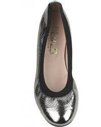 Elia B - Elia.b Bananas Hidden Wedge Ballet Flat In Pewter - Lyst