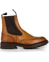 Tricker's - Trickers Men's Henry Chelsea Brogue Detail Boots - Lyst