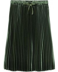 Maison Scotch - Shiny Pleated Skirt Green - Lyst