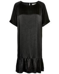 Part Two - Flemma Satin Dress Black - Lyst