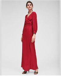 Tara Jarmon - Azalea Pink Wrap Maxi Dress - Lyst