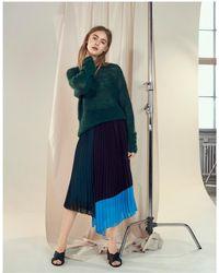Gestuz - Plissa Pleated Colour Panel Midi Skirt - Lyst