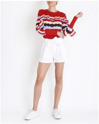 Jucca - Belted Shorts In White - Lyst