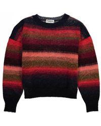 Essentiel - Antwerp Recife Brushed Striped Sweater Red/pink/blue - Lyst