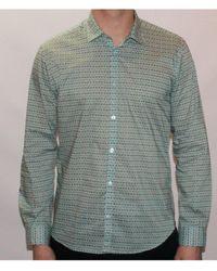 Poggianti - Montero Shirt In Jade Art Deco Inspired Design - Lyst