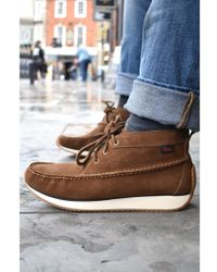 G.H.BASS - Gh Scout Runner Brown Suede Mid Boots - Lyst