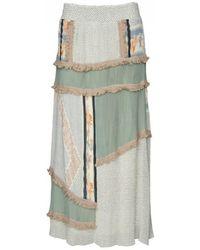 Cecilie Copenhagen - Cecilie Copenhagan Krystian Printed Maxi Skirt Pearl Blue - Lyst