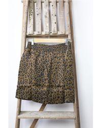 Swildens - Tori Leopard Print Skirt - Lyst