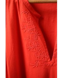 Vanessa Bruno Athé - Gloss Coral Embroidered Dress - Lyst