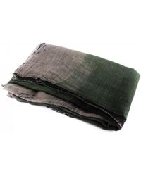 Dianora Salviati - Fuligni Taupe/military Green Linen Scarf - Lyst