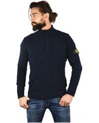 Stone Island - Sweater In Blue - Lyst