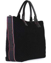 Pinko - Black Velvet Ararat Large Shopper - Lyst