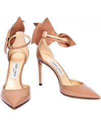 Jimmy Choo - Kelley 100 Ballet Pink Nappa/patent Leather - Lyst