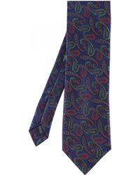 Jules B - Paisley Print Silk Tie - Lyst