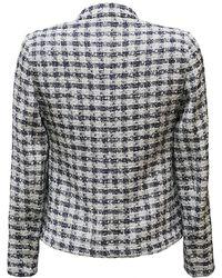 Armani - Women's Woven Check Blazer / Jacket - Lyst