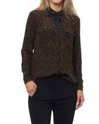 Custommade• - Zilja Shirt In Dark Olive - Lyst