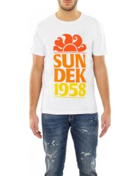 Sundek - T-shirt '58' Cotton - Lyst