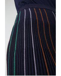 ARMEDANGELS Paana Evening Blue Stripe Skirt