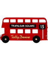 Tatty Devine - London Bus Brooch - Lyst