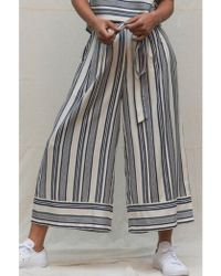 Native Youth - Tie Waist Blue/white Striped Pants - Lyst