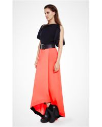 Amanda Wakeley - Sahara Silk Wool Skirt In Fluro - Lyst